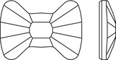 2858 bow tie flat back swarovski elements perspectiva