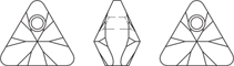 xilion triangle pendant swarovski elements perspectiva